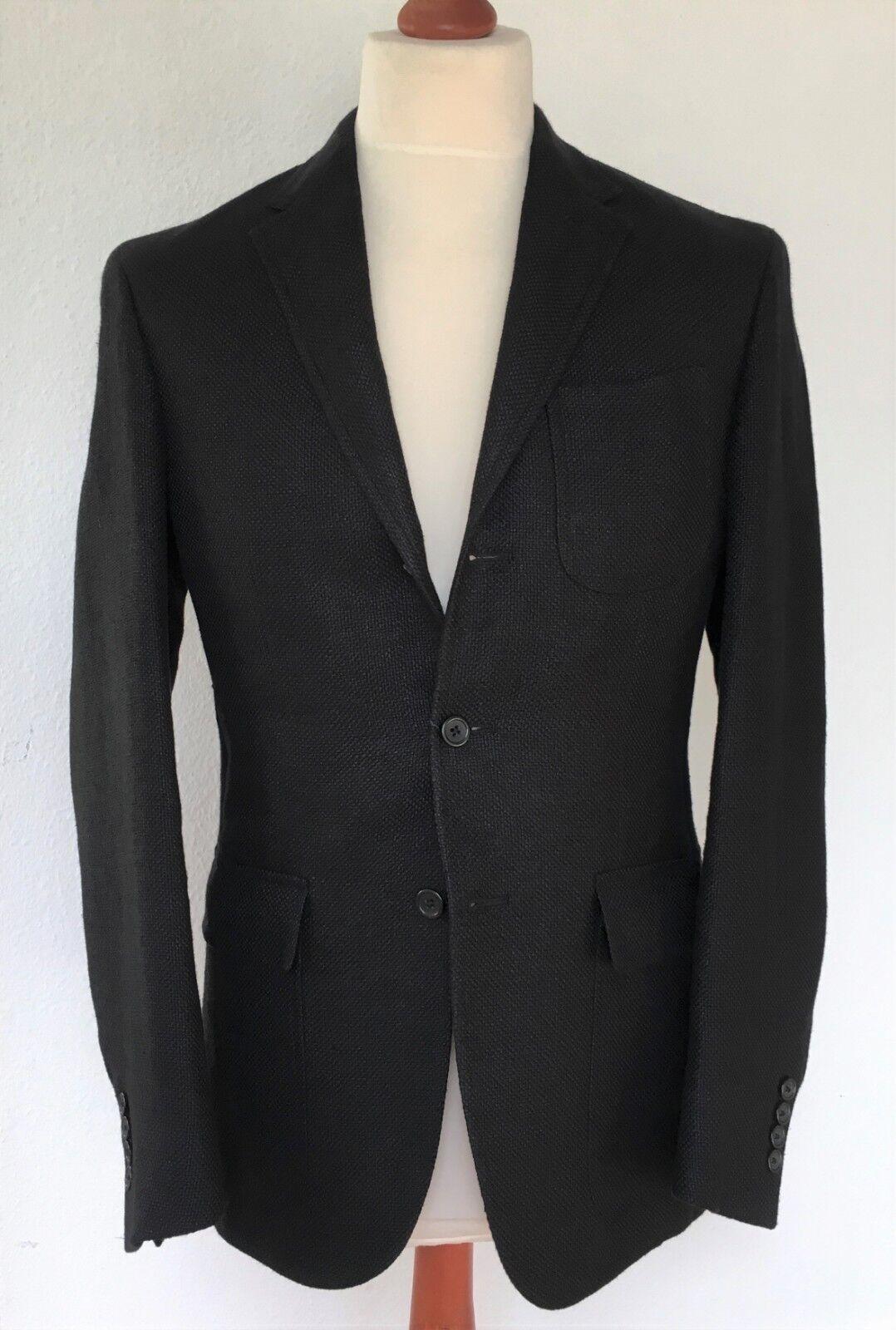 Polo Ralph Lauren, Sakko, schwarz, Leinen/Seide, 48 (US 38R), neu
