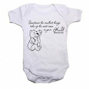 Winnie-The-Pooh-Beautiful-Quotation-Baby-Vest-Babygrow-Bodysuit-Boys-Girls-Gift