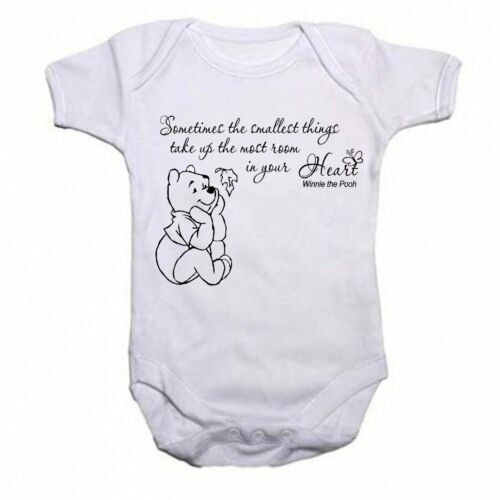 Winnie The Pooh Beautiful Quotation Baby Vest Babygrow Bodysuit Boys Girls Gift