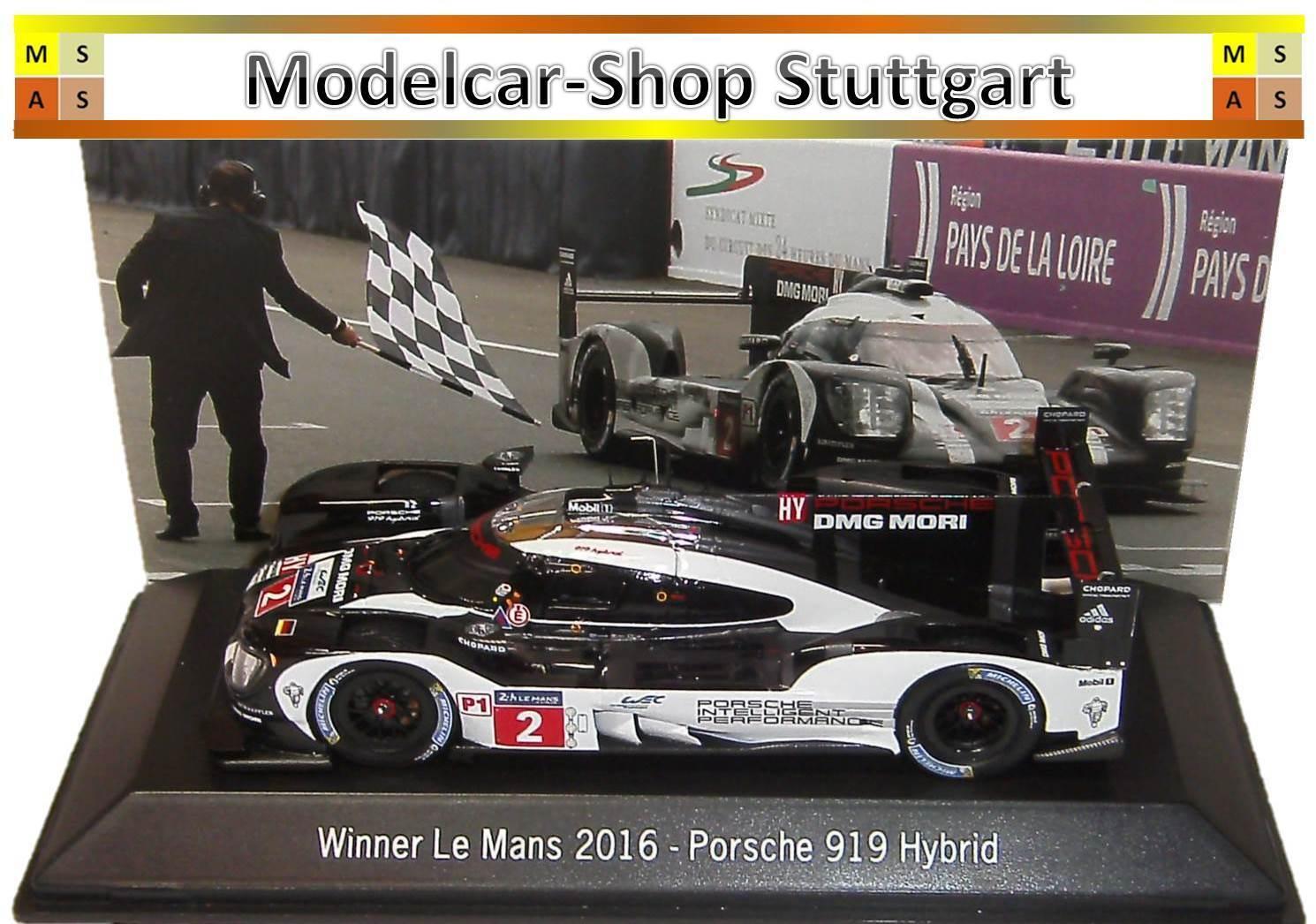 Porsche 919 Hybrid Winner Le Mans 2016 Spark  1 43 map02031616 nouveau  le style classique