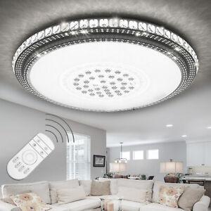 Details zu Elegant 36W-96W LED Deckenleuchte Kristall Deckenlampe Dimmbar  Wohnzimmer Lampe