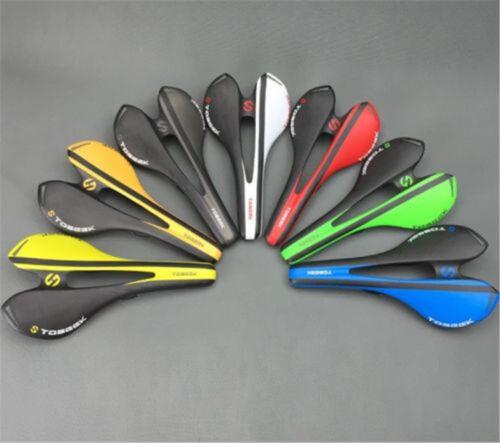 TOSEEK MTB Mountain Bike Racing Hollow Seat Saddle Carbon fiber 3K Cushion Pad