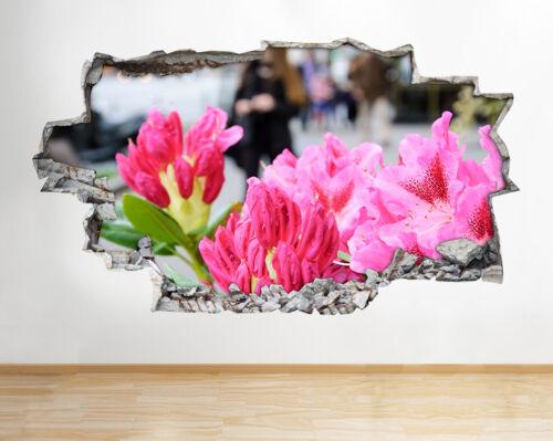 Pegatinas de Pared Flores Naturaleza Rosa Chicas Salón Calcomanía Arte Cartel 3D Vin A277