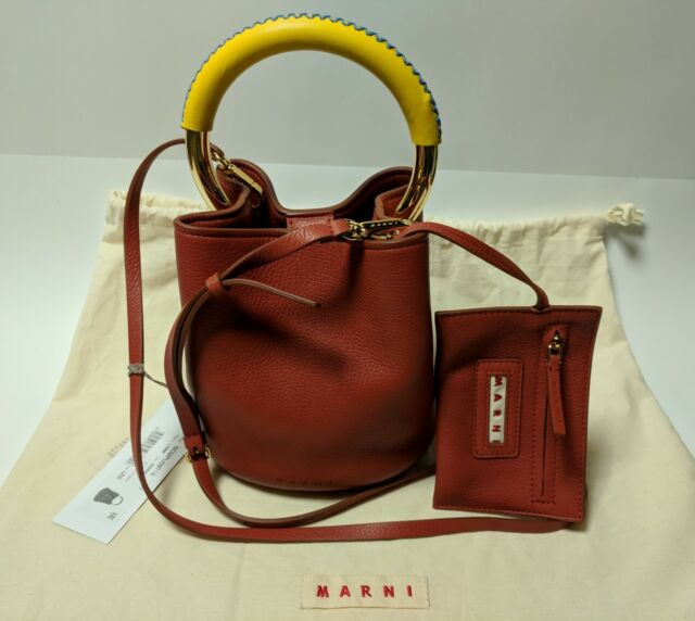 2a5000b5d1 Marni Circle Handle Bucket Bag Small in Terracotta RP for sale ...