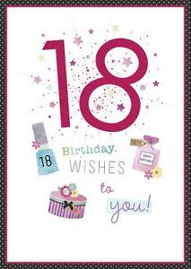 Geburtstagskarte Text 18.Details Zu Geburtstagskarte 18 Geburtstag Wunsche Buchse A96