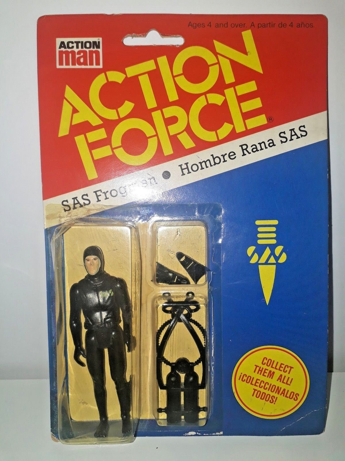 ACTION FORCE ACTION MAN SAS FROGMAN HOMBRE RANA PBP VINTAGE MADE IN SPAIN