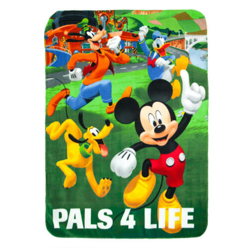 "Disney Mickey Mouse /& Pals Fleece Throw Blanket 45/""x60/"""