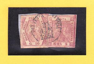 Italien-Altitalien.Staaten-Neapel-1861-5 u.10 Grano-MiNr.4 u.5 auf Briefstück - Petershagen, Deutschland - Italien-Altitalien.Staaten-Neapel-1861-5 u.10 Grano-MiNr.4 u.5 auf Briefstück - Petershagen, Deutschland
