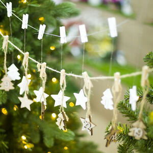 24Pcs-Wooden-Star-Christmas-Advent-Calendar-Tree-DIY-Hanging-Tags-Decor