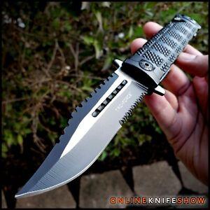 TAC FORCE Black Spring Assisted Open Sawback Bowie Blade Tactical Pocket Knife!