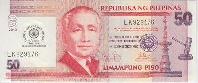 Philippines Banknote P216  50 Piso Comm Trinity University UNC