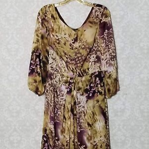 db723f4df32a3 Women's Tahari Arthur S Levine Size 6 Pink Green Floral Dress 3/4 ...