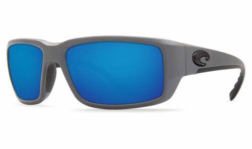 Blue Mirror 580P Polarized Costa del Mar Fantail Sunglasses TF 98 OBMP Grey