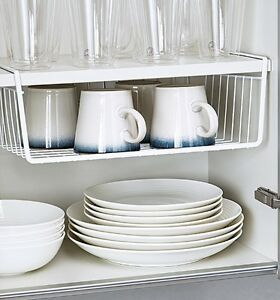 Perfect Image Is Loading KITCHEN UNDER SHELF SMALL LARGE STORAGE RACK METAL