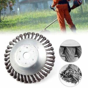 15cm Steel Wire Wheel Weed Brush head Lawn Mower Trimmer Cutter Rust Removal
