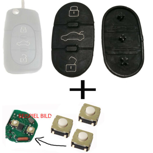 3x Taster 2x Für Audi A3 A4 A5 A6 TT Tastenfeld Funkschlüssel Schlüssel