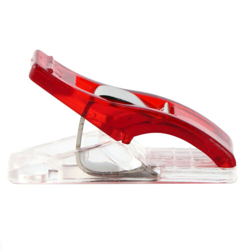 250x Clear/&Red Plastic Quilter Holding Wonder Clips Clamps Sewing Quilt Binding