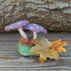 Needle Felted Mushrooms Decoration Handmade mushrooms