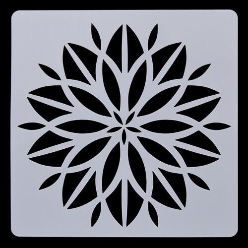 Mandala Dotting Stencils Template Wood Airbrush Painting Layering Scrapbooking