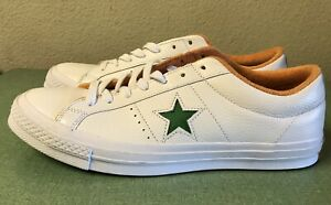 Details about Converse One Star Ox White Green Tangelo Leather 160594C Mens Sz 13 Sneakers NEW