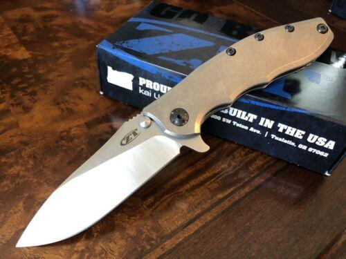 Zero Tolerance ZT Knives 0562Ti Hinderer Slicer CPM-20CV Titanium Handles