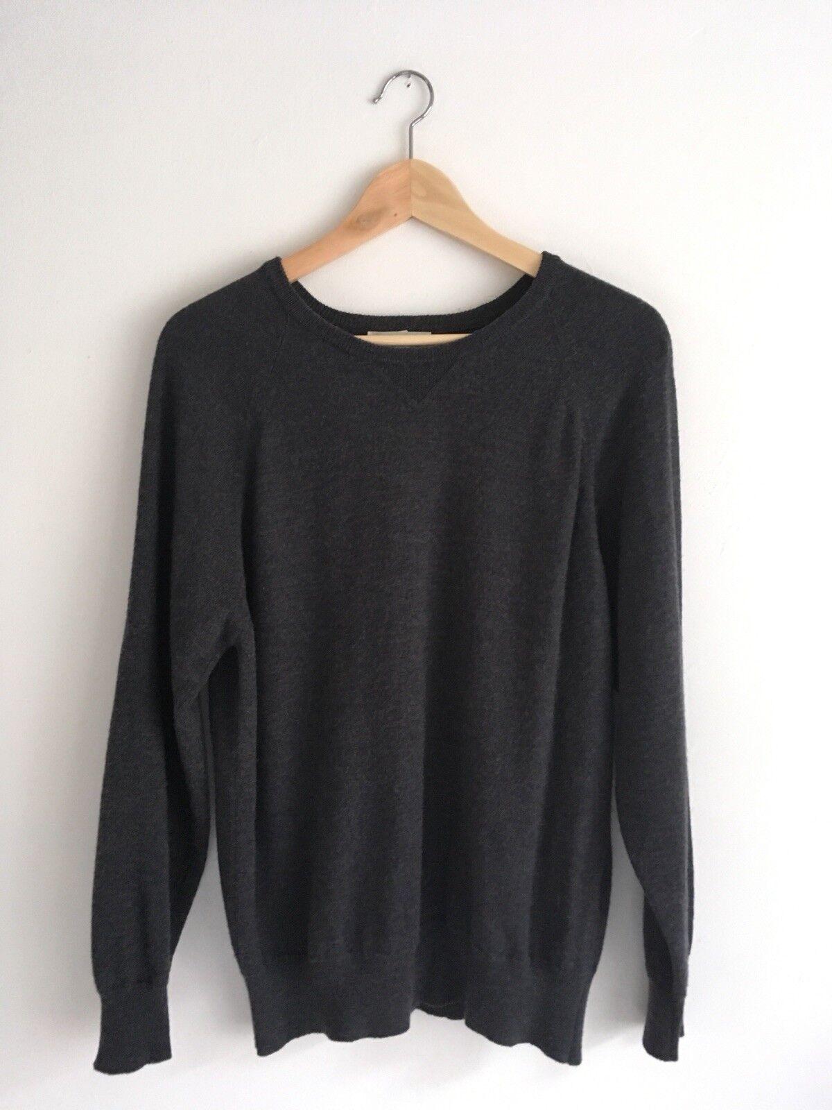 Freemans Sporting Club & Scott & Charters Merino Wool Charcoal Sweater Größe 46