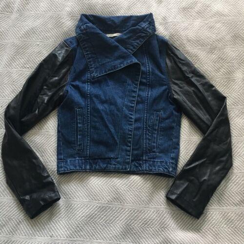 Romeo and Juliet Couture Denim Jacket Black Faux L
