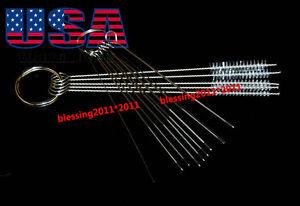 10 Cleaning Needles plus 5 Brushes Carburetor Carbon Dirt Jet Remove Tool Kits