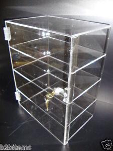 Acrylic-Countertop-Display-Case-12-034-x-8-034-x-16-034-Locking-Security-Show-Case-Safe-B