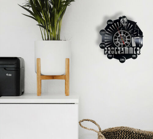 """Details about  /Programmer Funny Gift Vinyl Record Wall Clock 12/"""" Engineer Programming Gifts"""