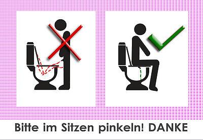 Klo-aufkleber In Verschiedenen AusfüHrungen Und Spezifikationen FüR Ihre Auswahl ErhäLtlich Sauberes Wc-,toiletten- 10 X Bitte Im Sitzen Pinkeln Aufkleber