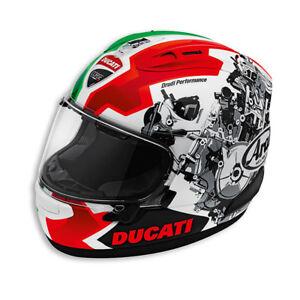 DUCATI-Arai-rx-7-GP-V-corse-v2-Racing-Casco-Casco-Integrale-Helmet-NUOVO