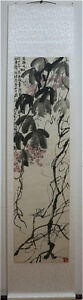 Excellent-Chinese-Scroll-Painting-034-Grape-034-By-Qi-baishi-A
