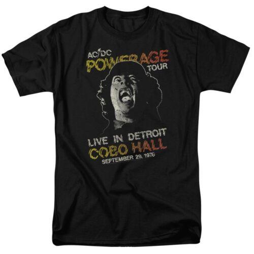 Authentic AC//DC Powerage Tour Concert Live In Detroit Cobo Hall 1976 T-shirt top