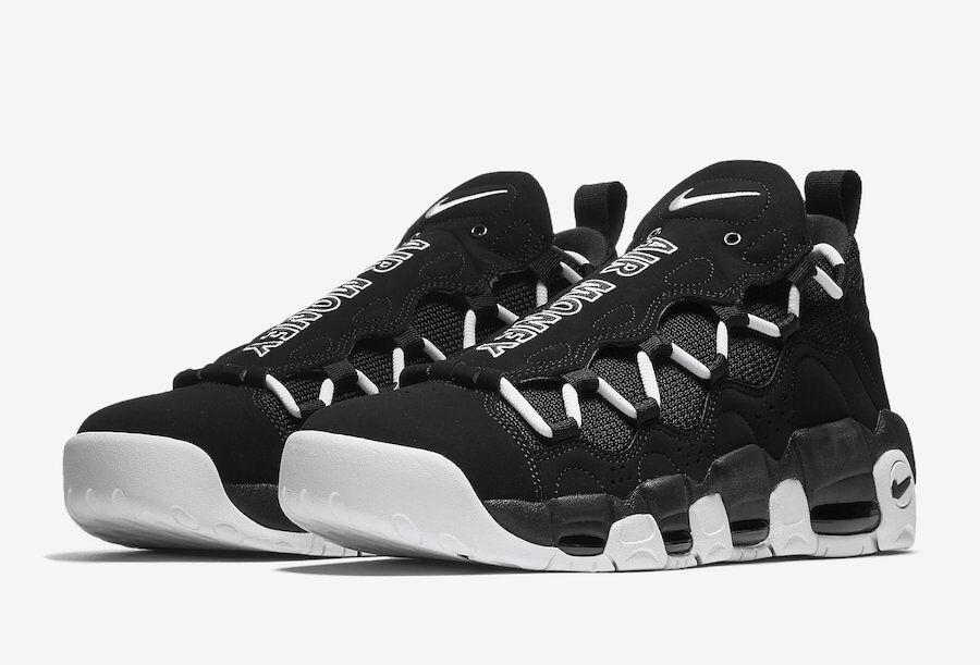 Mens Nike Air More Money AJ2998-001 Black/White Brand New Size 9.5