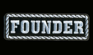 FOUNDER EMBROIDERED PATCH 4 INCH OUT LAW MC BIKER PATCH