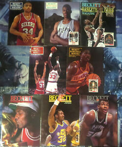 BECKETT-BASKETBALL-CARD-MONTHLY-Lot-of-8-backissues-1990-1991