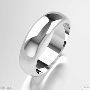 Image Is Loading Gold Wedding Ring 9ct White D Shape Heavy
