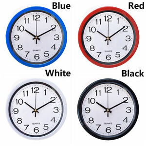 Simplicity-Quartz-Bell-Wall-Clock-Sweep-Second-Movement-Silent-Home-Decor