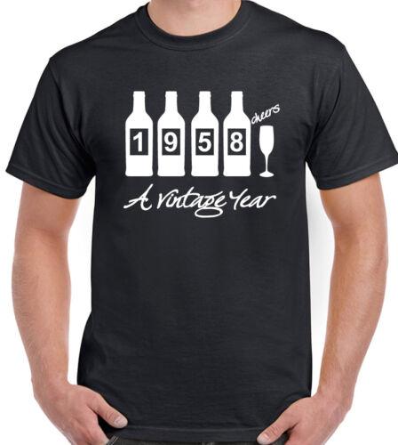 Bouteilles 1958 homme drôle 61st Anniversaire T-shirt 61 ans cadeau
