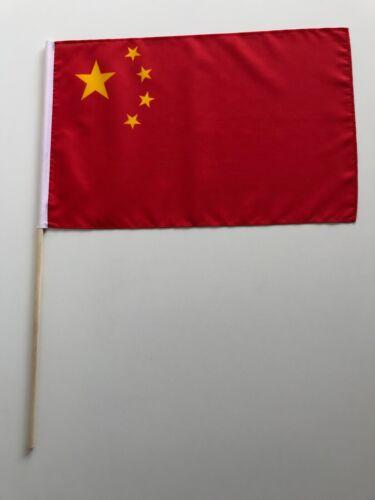Drapeau Pavillon Chine 30x45 cm avec bâton