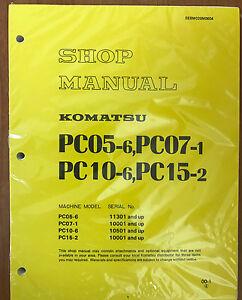 komatsu pc05 6 pc07 1 pc10 6 pc15 2 shop service repair printed rh ebay com