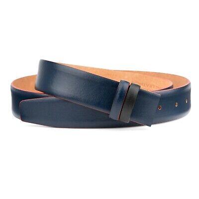 "Black leather belt Mens belts 3.5 cm brioni Adjustable Replacement strap 40/"""