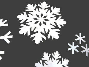 Festive Christmas Decoration Removable Decals Snowflake Window Stickers
