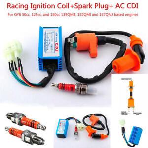 High-Performance-Racing-Ignition-Coil-Spark-Plug-AC-CDI-GY6-50c-125cc-150cc-1x