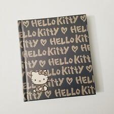 Hello Kitty Journal Black Gray Silver Grayscale Hard Cover Diary Book Kawaii
