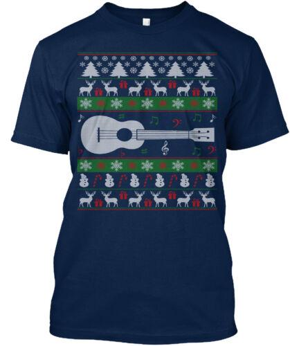 Ukulélé Laid Noël Pull Standard Unisexe T-Shirt