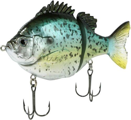"Fishlab Bio Gill Glide Bait Black Crappie 4/"" 1oz Slow Sink"