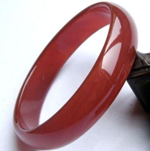 Nouveau beau 100/% naturel Red Agate Bracelet Jonc Jade AAA