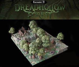 Dwarven-Forge-Caverns-Deep-Dreadhollow-Forest-Encounter-15-D-amp-D-Tiles-Painted